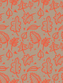 Doodle leaves seamless pattern — Stock Vector