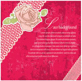 Pink vintage lace background. — Stockvector