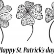 St. Patrick's day three clovers.  — Stock Vector
