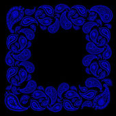 Doodle paisley achtergrond-frame. — Stockvector