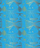 Doodle getextureerde bogen naadloze patroon. — Stockvector