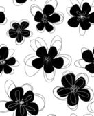 Seamless doodle floral pattern. — Stock Vector