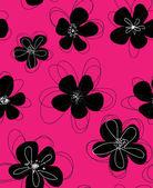 Naadloze doodle bloemmotief. — Stockvector