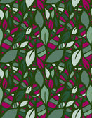 Doodle stylized leaves seamless pattern. — Stock Vector