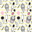 Doodle ice cream seamless pattern. — Stock Vector #31998773