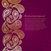 Doodle paisley seamless line background. — Stock Vector