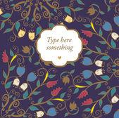 Hand getrokken doodle floral decoratieve achtergrond. — Stockvector