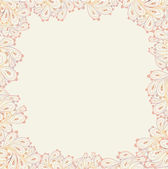 Doodle paisley background-frame. — Stockvektor