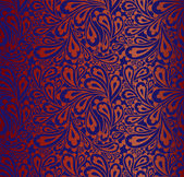 Doodle paisley seamless pattern. — Stockvektor