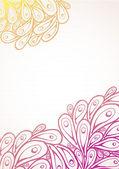 Doodle gradient plumes de paon — Vecteur