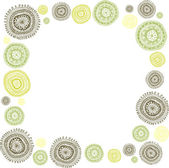 Doodle circles background-frame — Stock Vector
