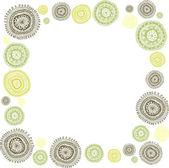 каракули кругах фона кадр — Cтоковый вектор