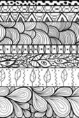 Doodle étnica padrão sem emenda. — Vetorial Stock