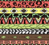 этнические декоративные бесшовные модели — Cтоковый вектор