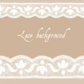 White-beige pale lace background — Stock Vector
