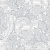 Floral lace seamless pattern. — Stock Vector