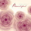 Pale red-pink roses square background — Imagen vectorial