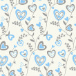 hearts brunches pattern — Stock Vector
