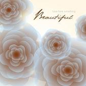 Bleke blauw-bruin vintage rozen vierkant achtergrond — Stockvector