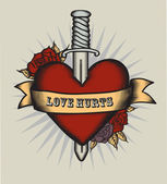 Heart in tattoo style. — Stock Vector