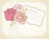 Conjunto de álbum vintage de rosas — Vector de stock