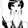 Vecteur: Art deco girl.