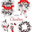 Christmas garlands set. — Stock Vector