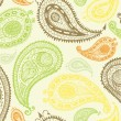 Doodle paisley seamless pattern. — Stock Vector