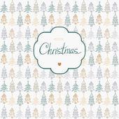 Doodle texturerat jul träd-grannlåt bakgrund. — Stockvektor