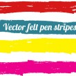 Stock Vector: Vector felt pen stripes.