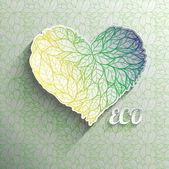 Textured eco heart. — Stock Vector