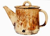 Old sooty kettle — Stock Photo