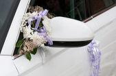 Wedding car decoration — Stock Photo