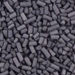 Activated carbon granules close up — Stock Photo