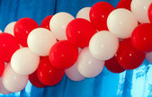 Red and white balloons — Stock Photo