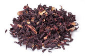 Heap of Hibiscus tea on white — Foto Stock
