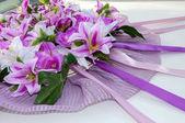 Bruiloft auto decoratie — Stockfoto