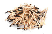Pile of used matches — Foto Stock