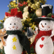 Christmas snowman — Stock Photo #34496523