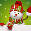 Stock Photo: Christmas snowman