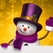 Christmas snowman — Stock Photo