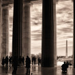 Stock Photo: Inside Lincoln Memorial