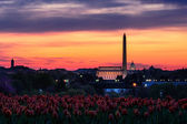 Washington monument sunset — Stock Photo