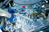 Engine of classic car — Foto de Stock