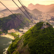 Cable car approaching Sugarloaf Mountain, Urca, Rio de Janeiro, Brazil — Stock Photo #30015891