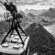 Overhead cable car — Stock Photo