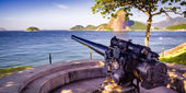 Cannon at a fort — Stock Photo