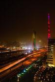 Bridge at night in Sao Paulo — Stock Photo