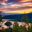 Lake Tahoe at dusk — Foto Stock