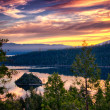 Lake Tahoe at dusk — Stockfoto